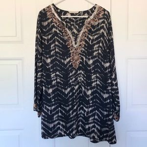 Soft Surroundings Sequins & Beads Detail Tunic M